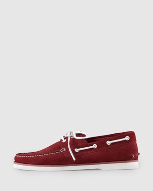 Aquila Admiral Boat Shoes - Dress Shoes (Red)
