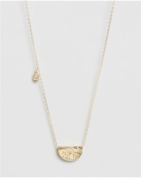 By Charlotte - Awaken Your Senses Lotus Birthstone Necklace - February