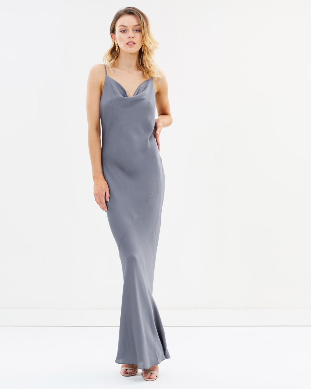 Shona Joy Bias Slip Dress Bridesmaid Dresses Pewter Bias Slip Dress