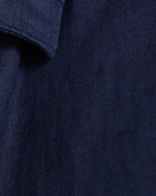 SABA Anderson Long Sleeve Classic Linen Shirt - Casual shirts (blue)