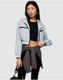 TOPSHOP Petite - Shell Cropped Jacket