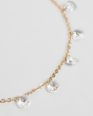 Mestige Marina Anklet with Swarovski?« Crystals Jewellery Gold