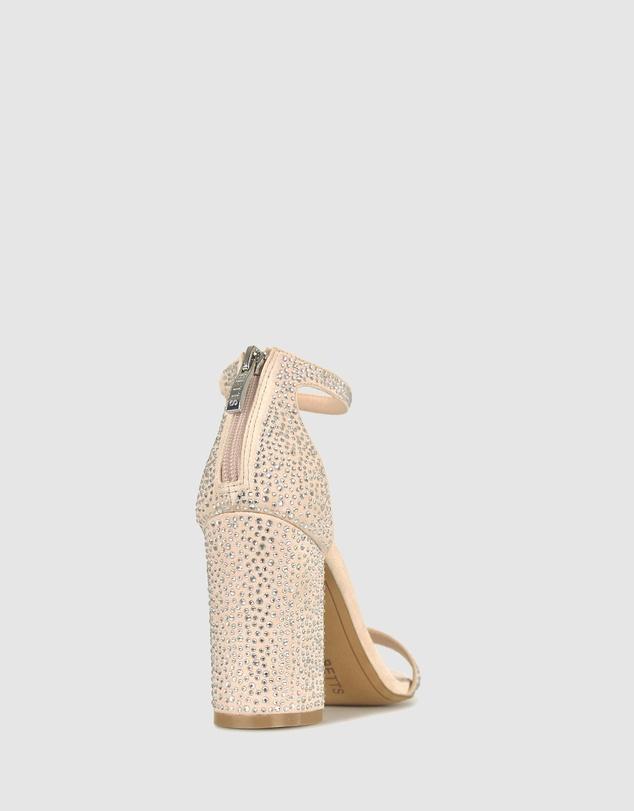 Women Kwest Diamante Block Heels