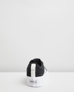 adidas Originals Nizza Platform   Women's - Lifestyle Sneakers (Black & FTW White)