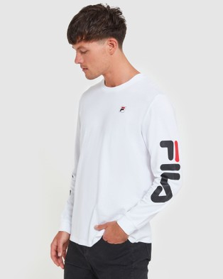 Fila Classic Long Sleeve Tee - Long Sleeve T-Shirts (White)