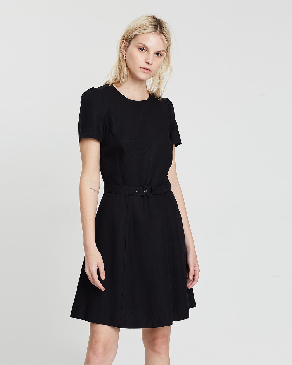 Marcs BLACK Textured Tencel Dress