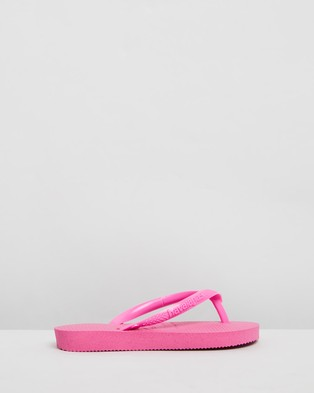 Havaianas - Slim Metallic   Kids - All thongs (Hollywood Rose) Slim Metallic - Kids