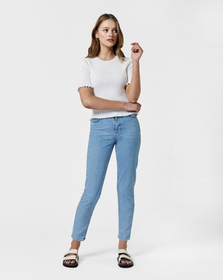 MVN Marci Top - Jumpers & Cardigans (White)