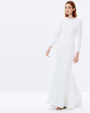 Rebecca Vallance – Billie Long Sleeve Gown – Dresses (Ivory)
