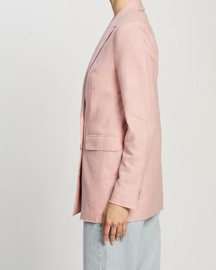 Atmos&Here Talia Ramie Blazer - Blazers (Soft Pink)