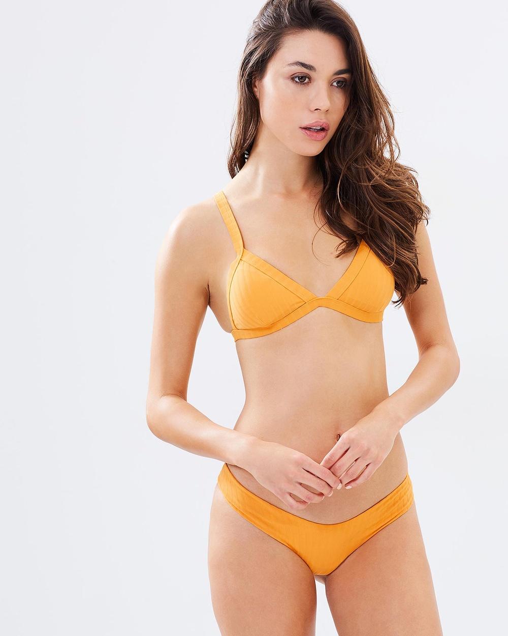 Bond-Eye Swimwear Sun's Out Rib Briefs Bikini Bottoms Saffron Sun's Out Rib Briefs