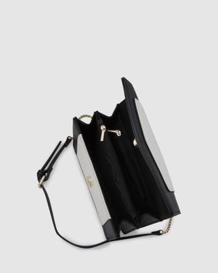 Olga Berg Montana Pebble Shoulder Bag - Handbags (Black/White)