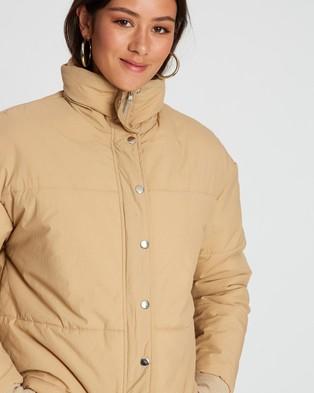 Dazie Lola Cropped Puffer Jacket - Coats & Jackets (Natural)