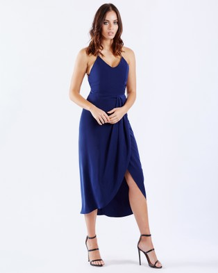 PIZZUTO – Sangria Crossover Back Cocktail Dress