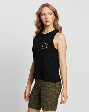 Cartel & Willow - Maya Muscle Tank Tops (Black White Orbit)