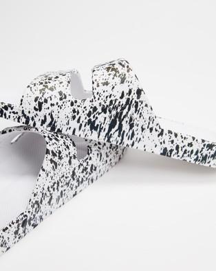 Freedom Moses Slides   Unisex - Casual Shoes (White Splatter)