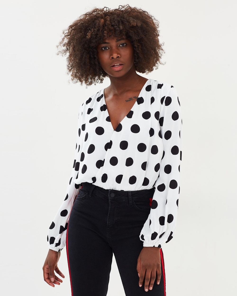Atmos & Here ICONIC EXCLUSIVE Destiny Bodysuit Tops Polka Dot ICONIC EXCLUSIVE Destiny Bodysuit
