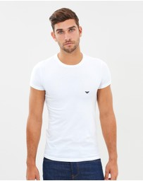 Emporio Armani - Cotton Stretch Crew Neck Undershirt