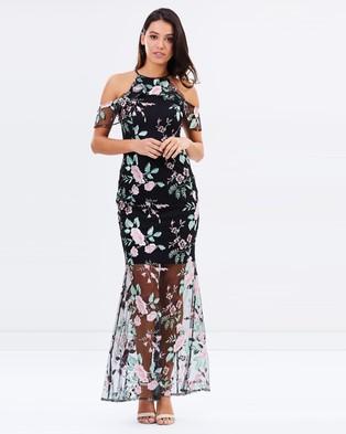 Lipsy – Marker High Neck Embroidered Maxi Dress – Bridesmaid Dresses (Multi)