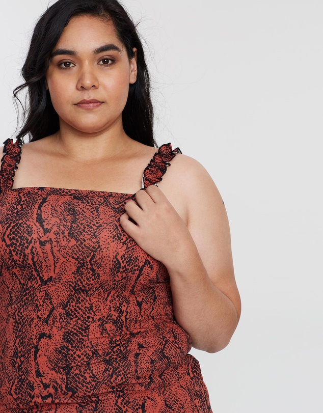 DP Curve - Square Neck Ruffle Top