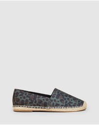 French Connection - Khaki Animal Espadrilles
