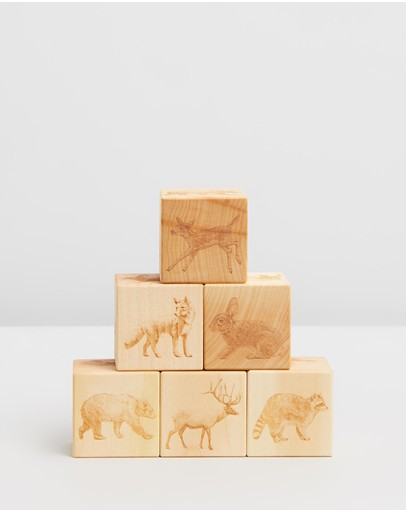 Noc Noc - Woodland Animals Wooden Blocks