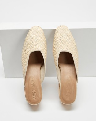 JAMES   SMITH Cafe Society Woven Mules - Mid-low heels (Woven)