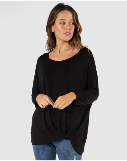 Betty Basics Atlanta 3/4 Sleeve Top Black