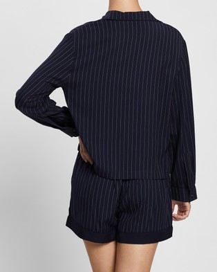 Jasmine and Will Capri Short Set - Two-piece sets (Navy Pinstripe)