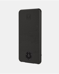 Moyork - Genuine Leather Power Bank (6000 mAh) with Retro Dial - Raven Black
