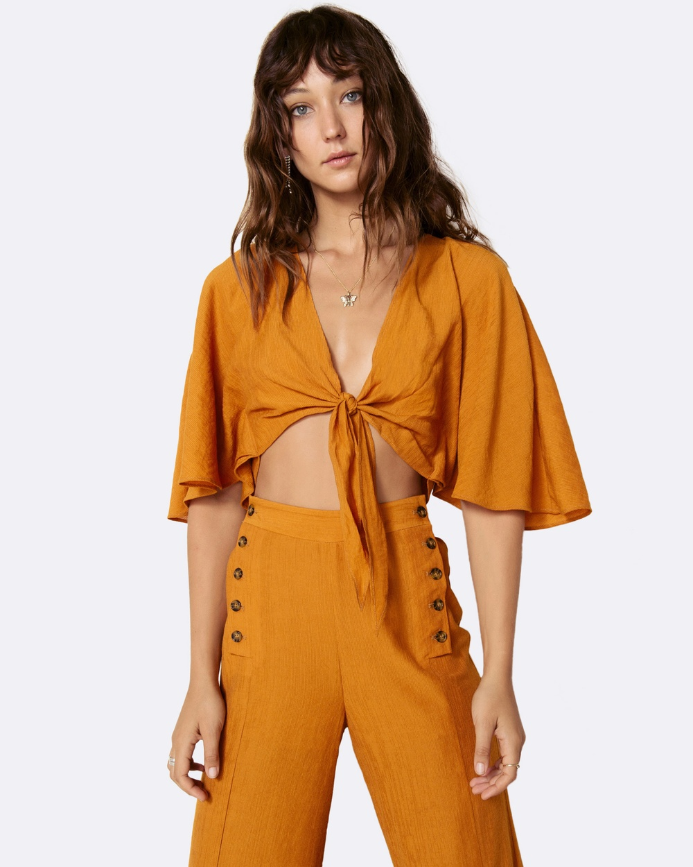 The East Order Amelie Top Cropped tops Orange Amelie Top