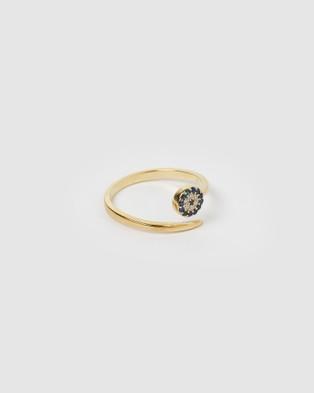 Izoa Hiba Eye Ring - Jewellery (Gold)