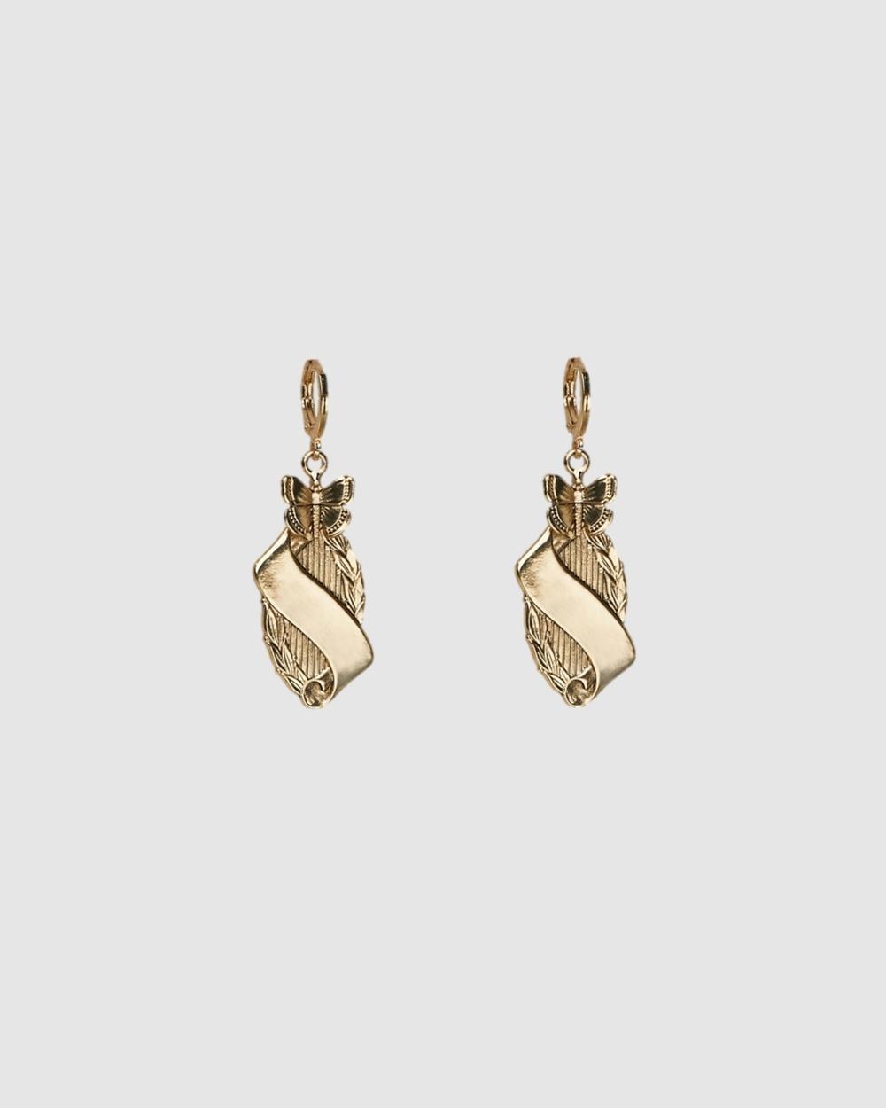 Kitte Monarch Earrings Jewellery Gold