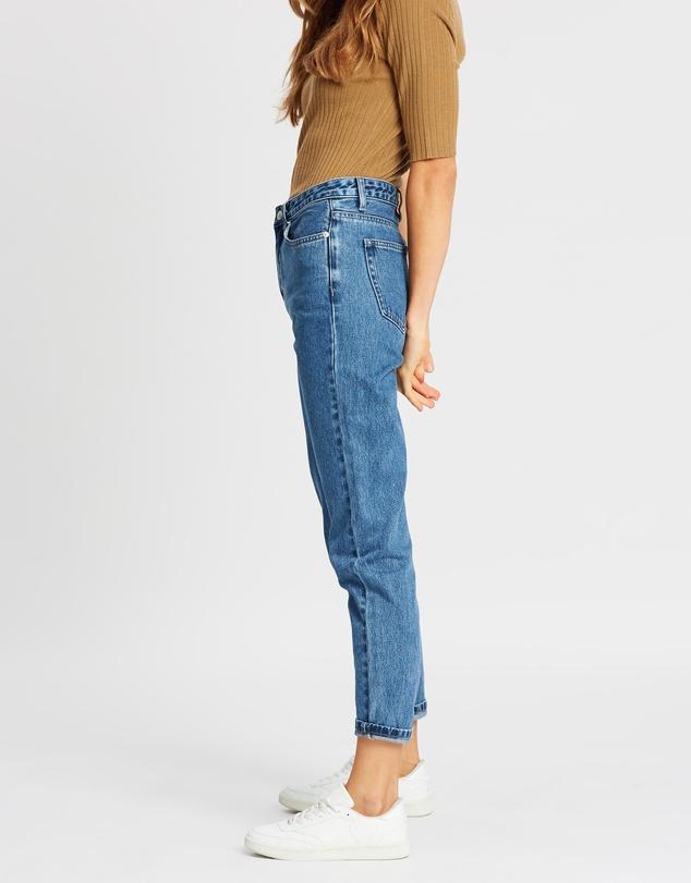 Women High Waist Rigid Jeans