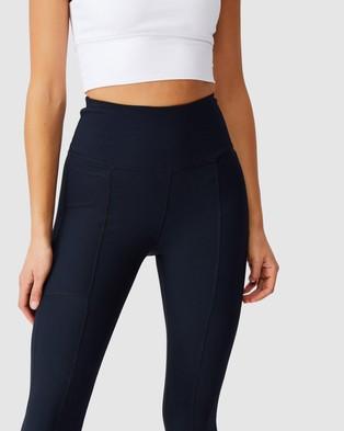 Cotton On Body Active Rib Pocket 7 8 Tights - 7/8 Tights (Navy)