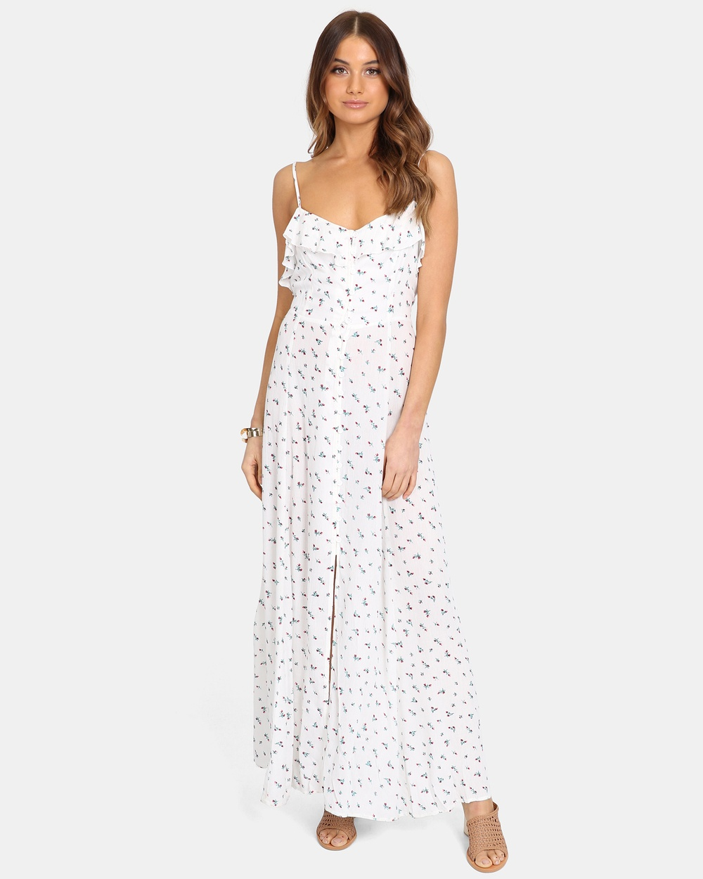 Lost in Lunar White Darci Maxi Dress