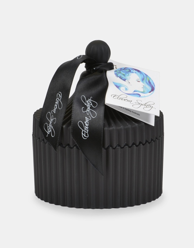 Life Lotus Flower Matte Black Carousel Candle