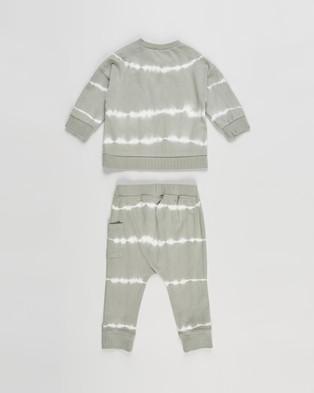 Cotton On Baby Enzo Zac Tracksuit   Babies - Sweats (Silver Sage Linear Tie Dye)