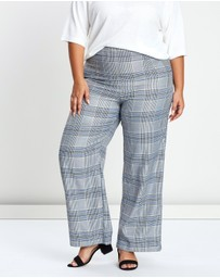 Atmos&Here Curvy - Jordon Check Pants