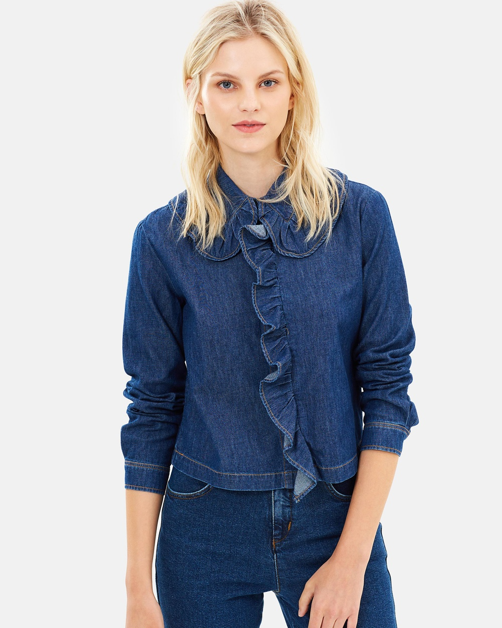 MAX & Co. Dafne Blouse Tops Cornflower Blue Dafne Blouse