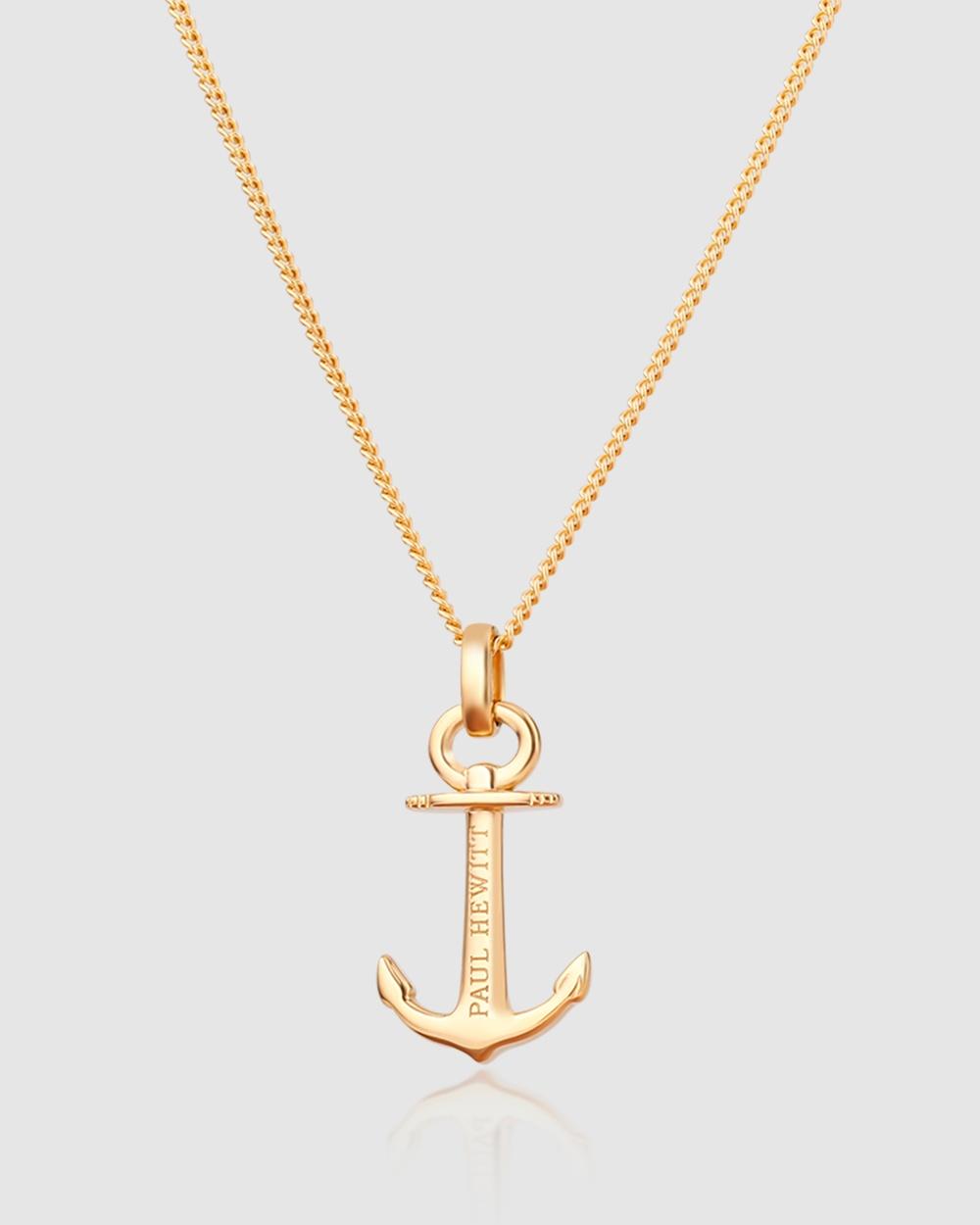 Paul Hewitt Anchor Spirit Necklace Jewellery Gold