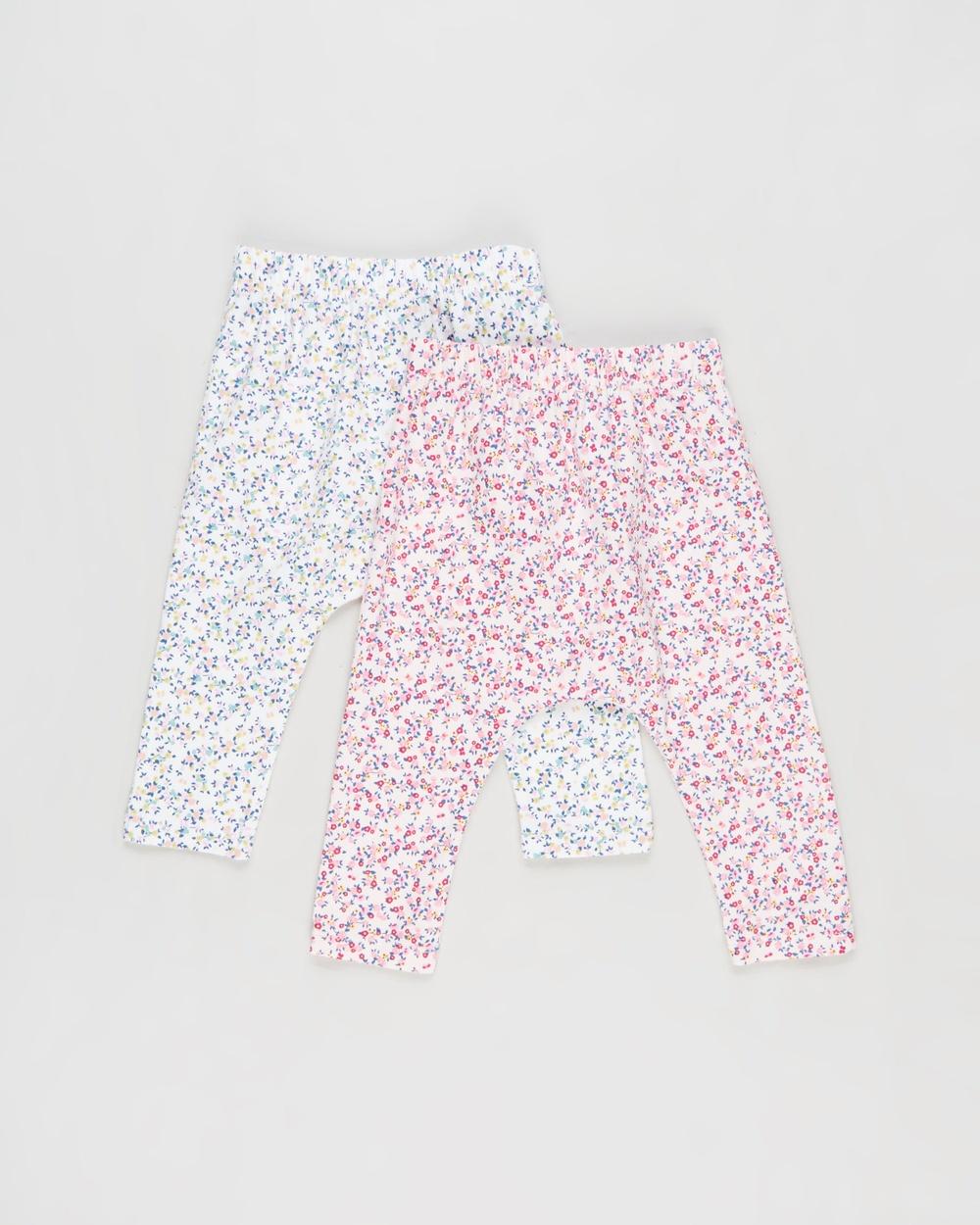 Cotton On Baby 2 Pack Leggings Babies Pants Vanilla Crystal Pink & Somerset Floral 2-Pack Australia