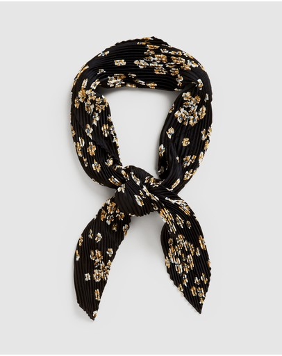 French Connection - Ditsy Floral Pleated  Scarf