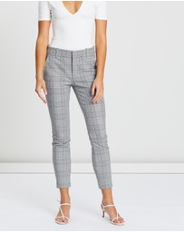 Gap - Skinny Ankle Plaidstripe Pants