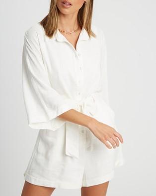 Calli Greta Playsuit - Jumpsuits & Playsuits (White)