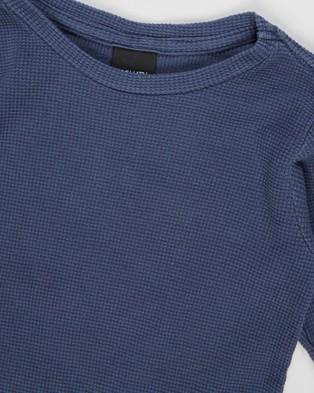 St Goliath - Long Sleeve Waffle Tee   Kids - T-Shirts & Singlets (Blue) Long Sleeve Waffle Tee - Kids