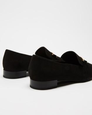 Dazie Micah Loafers - Flats (Black Microsuede)