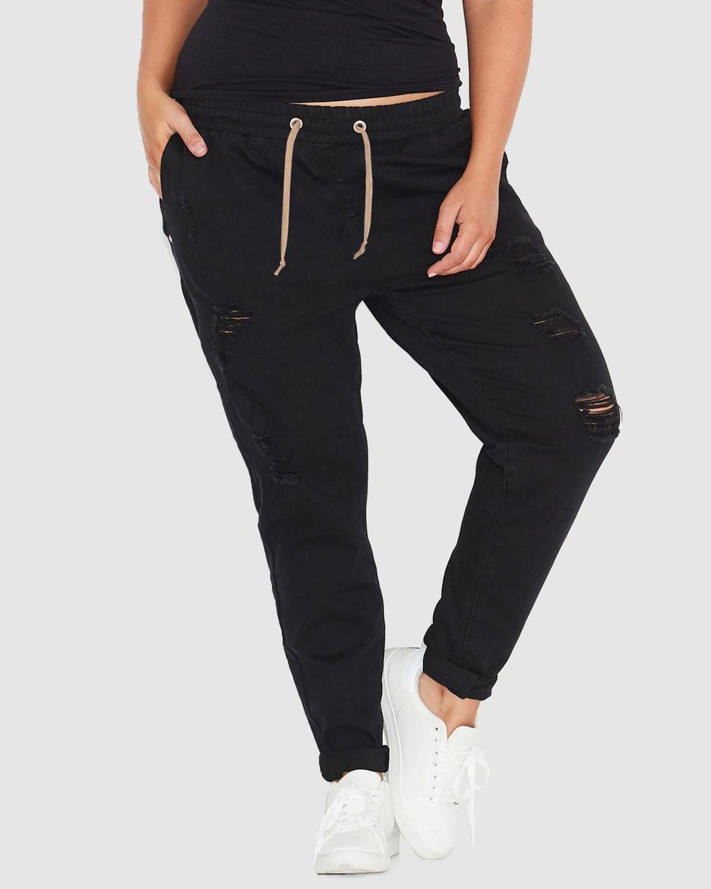 17 Sundays Warpaint Joggers Jeans Black Australia