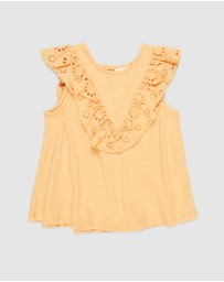 Cotton On Kids - Juliette Short Sleeve Top - Kids-Teens