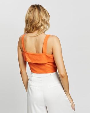 Glamorous Button Top - Cropped tops (Orange)